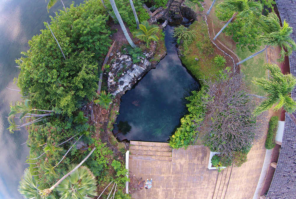 Aerial photo of Kanewai Spring